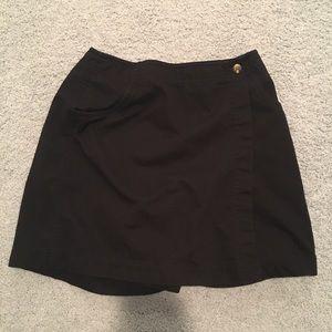 Vintage 90s black skort